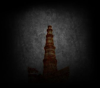 history of qutub minar in delhi colored